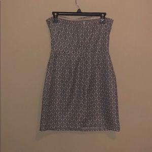 Dresses - Strapless Black and White Dress
